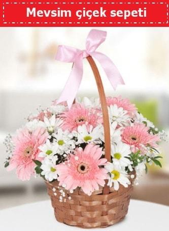 Mevsim kır çiçek sepeti  Gaziantep çiçek mağazası , çiçekçi adresleri