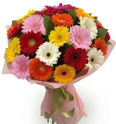 Karışık büyük boy gerbera çiçek buketi  Gaziantep çiçek servisi , çiçekçi adresleri